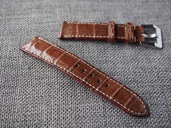 Dark Brown Caiman Belly Strap for Rolex 20/18 75/115 Ready to ship