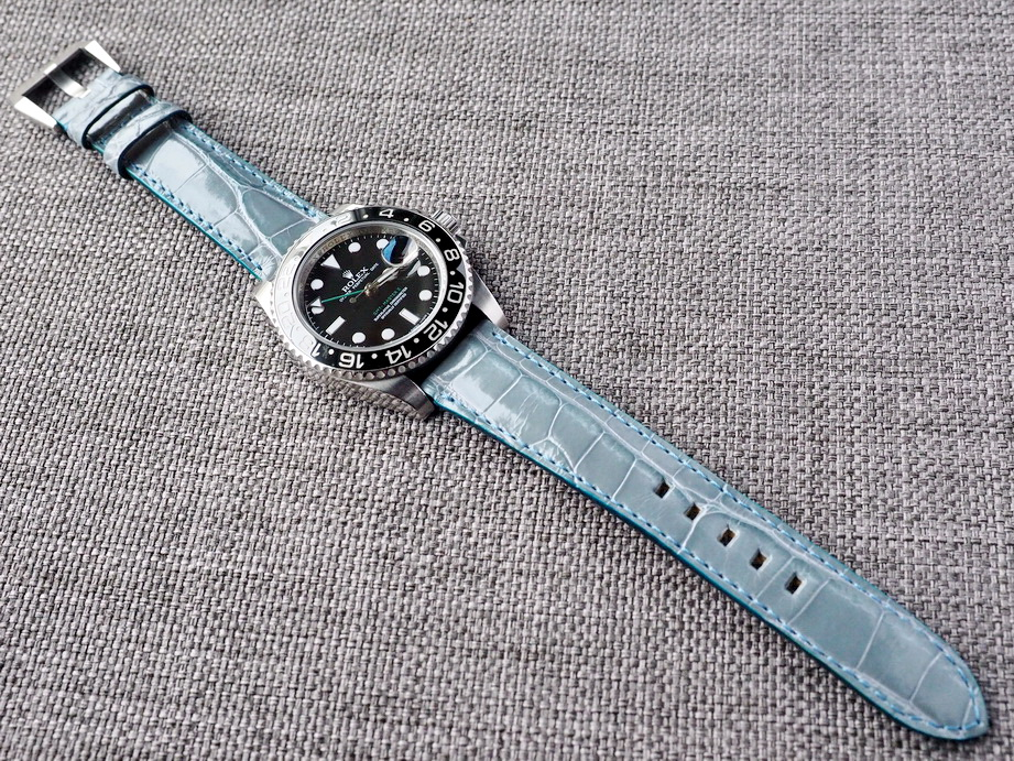 Ted Su Arctic Blue Alligator Strap Ready to ship