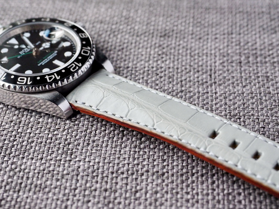 Ted Su Harbour Gray Alligator Strap Ready to ship