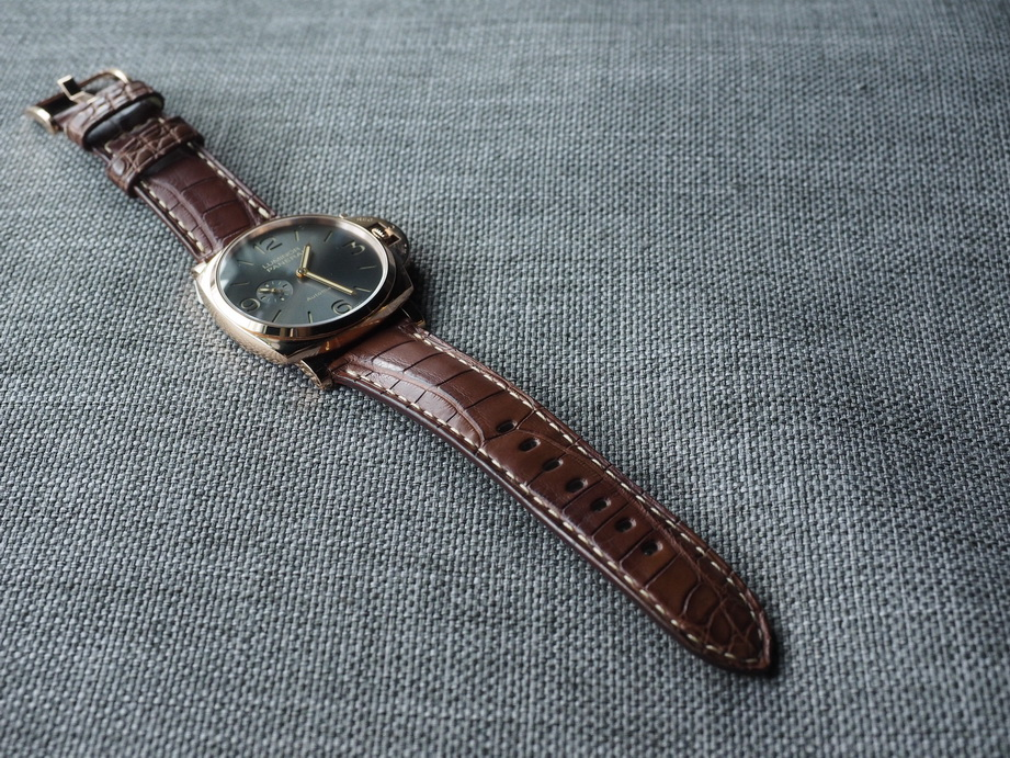 Ted Su Grade A brown Alligator strap for Panerai and all brands