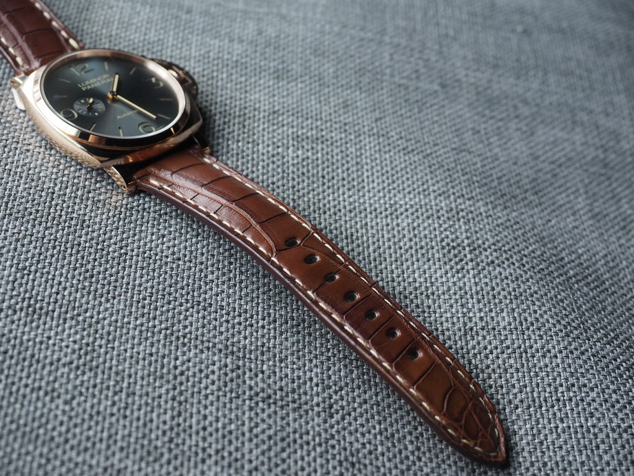 Ted Su Grade A Brown Alligator strap