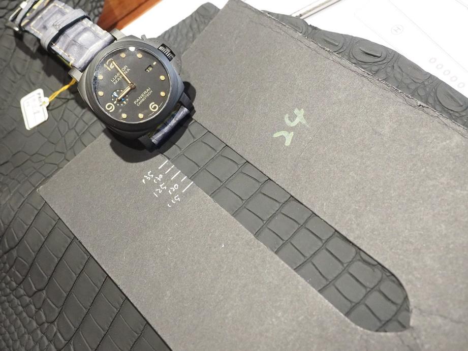 Ted Su Grade A Alligator strap for Panerai and all brands