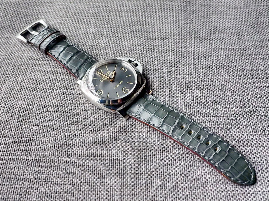 Ted Su grey alligator strap for Panerai-432