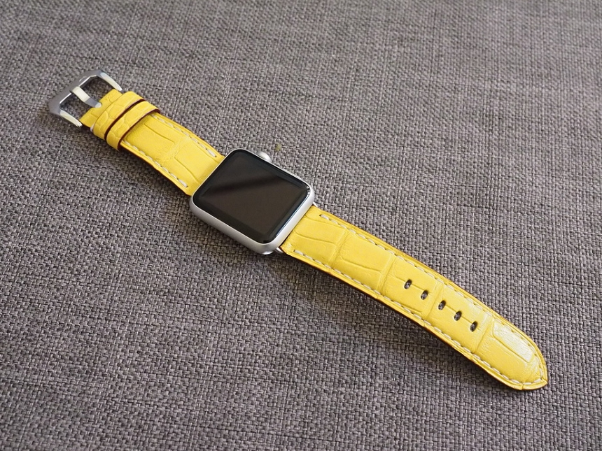 Ted Su alligator straps for Apple Watch