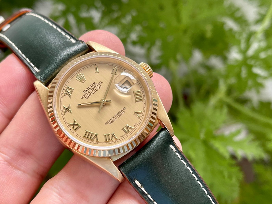 Ted Su English Green Bridle Strap for vintage Rolex