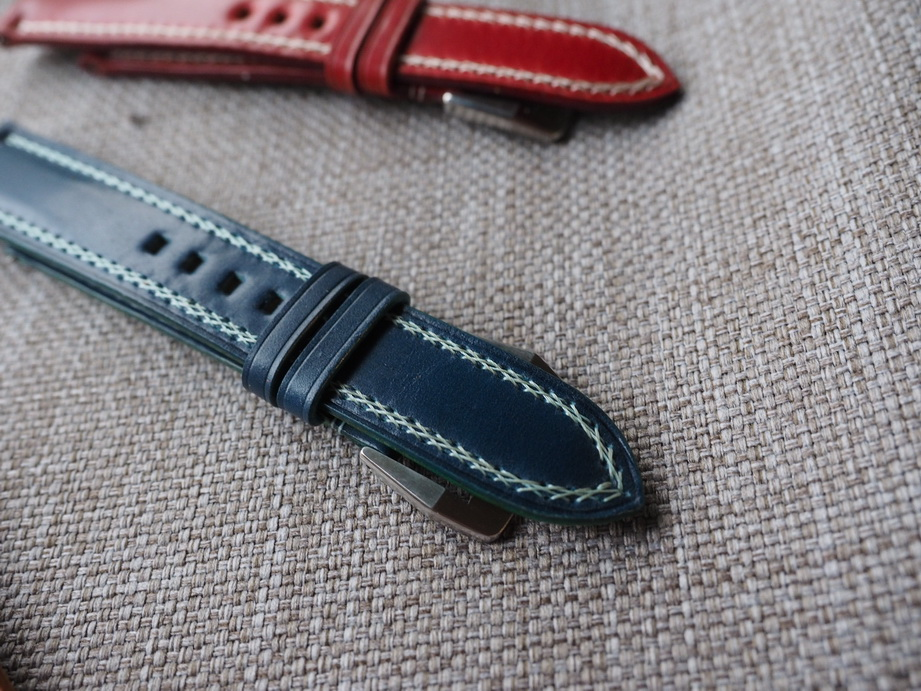 Ted Su Shell Cordovan straps with special stitching