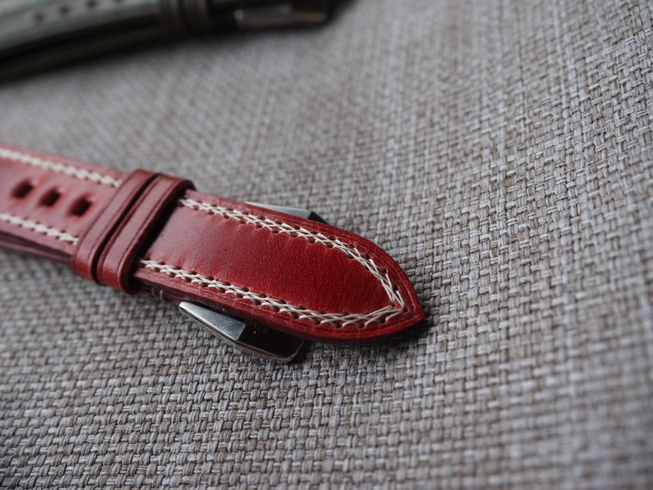 Ted Su Shell Cordovan strap with special stitchings