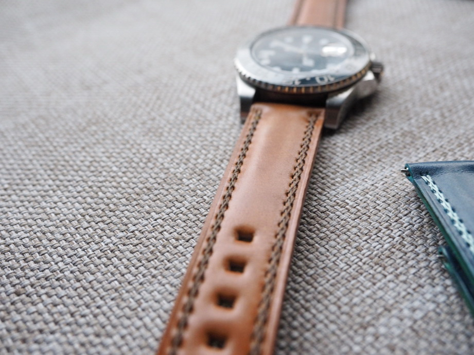 Ted Su Shell Cordovan straps with special stitchings