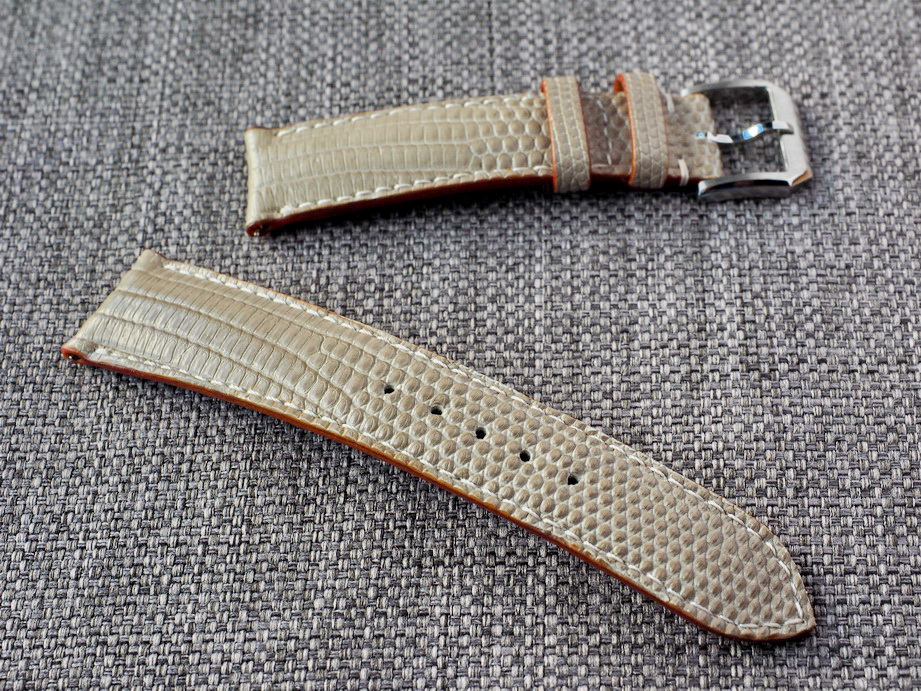 Ted Su Elephant Gray Lizard Straps for Rolex