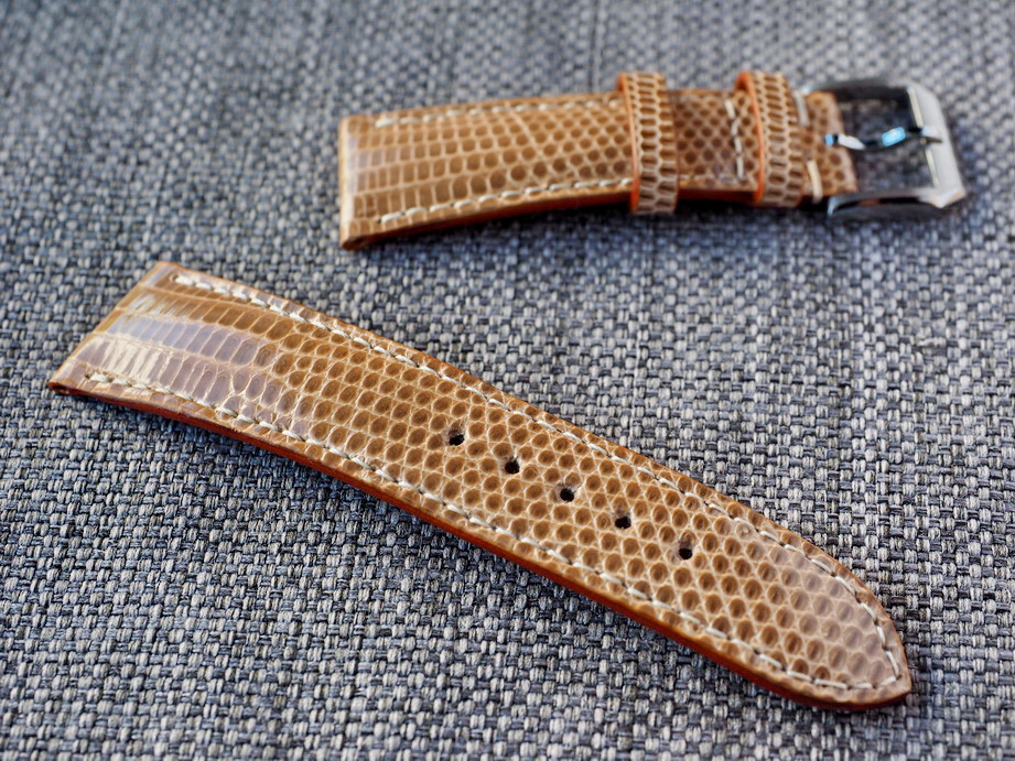 Ted Su Light Brown Lizard Straps for Rolex