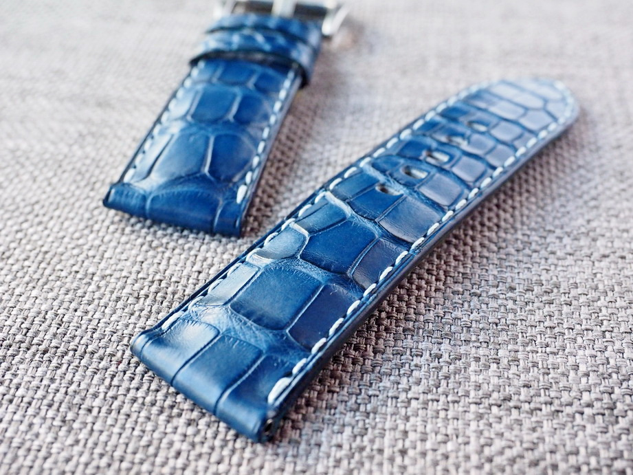 Ted Su Dark Blue Alligator Strap- Ready to ship
