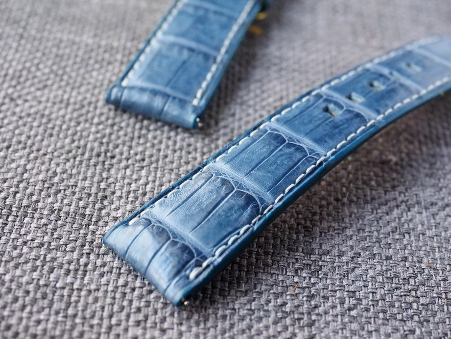 Ted Su Prussian Blue Croc Belly Strap