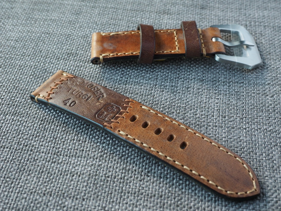Ted Su special edition Swiss ammo strap for 44mm Panerai  Dated 1940