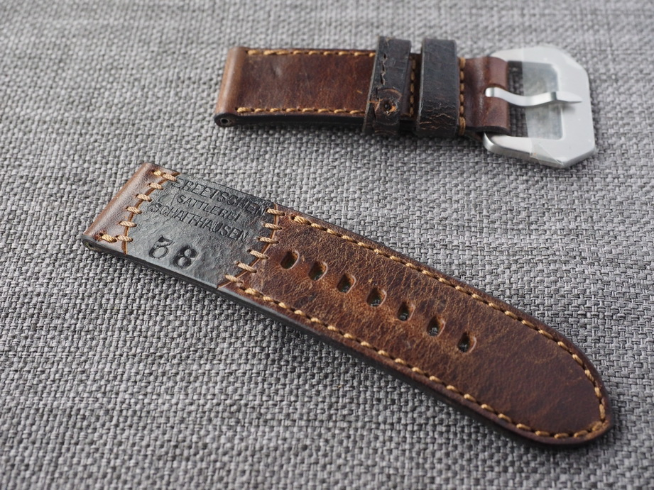 Ted Su special edition Swiss ammo strap for 47mm Panerai  Dated 1938