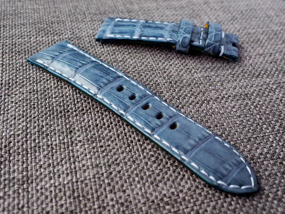 Prussian Croc Belly Straps- Made To Order