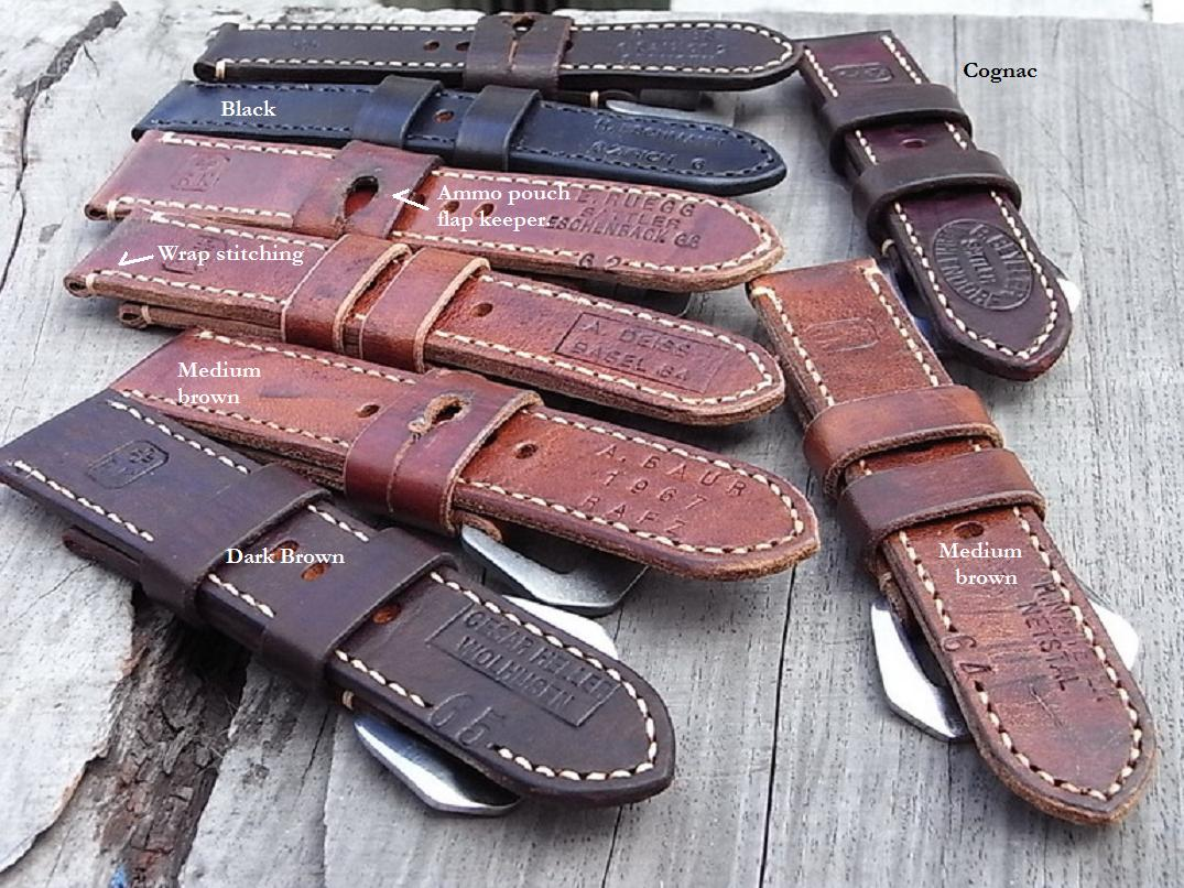 Ted Su Swiss ammo straps custom made for your Panerai