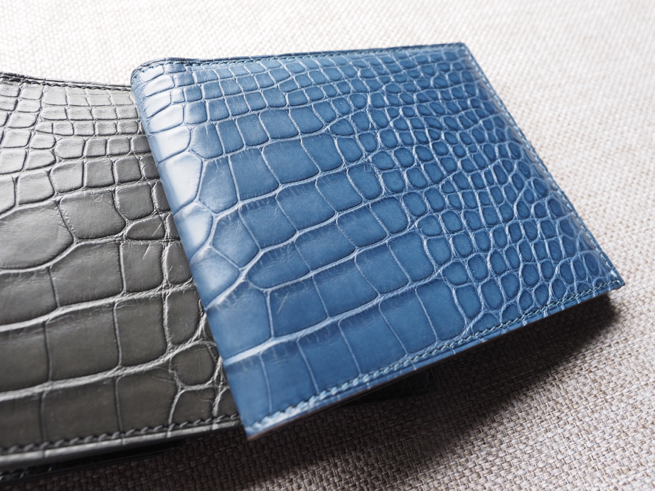 Ted Su blue alligator wallet