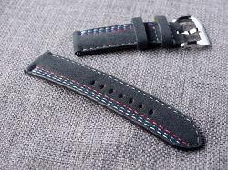 Racing theme Alcantara strap  24/24 75/125  Ready to ship