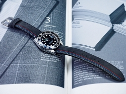 Racing theme Alcantara strap for Rolex