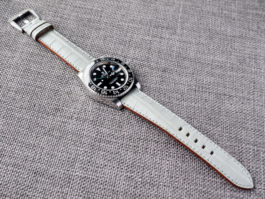 Harbour Gray Alligator Strap for Rolex  20/18 75/115 Ready to ship
