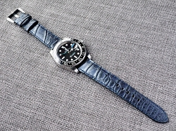 Two tone Blue/Black Alligator Strap for Rolex  20/18 75/115 Ready to ship