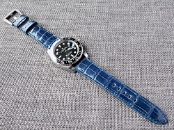 Admiral Blue Alligator Strap for Rolex  20/18 75/115 Ready to ship