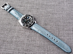 Arctic Blue Alligator Strap for Rolex   20/18 75/115 Ready to ship