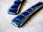 Deep Ocean Blue grade A alligator straps