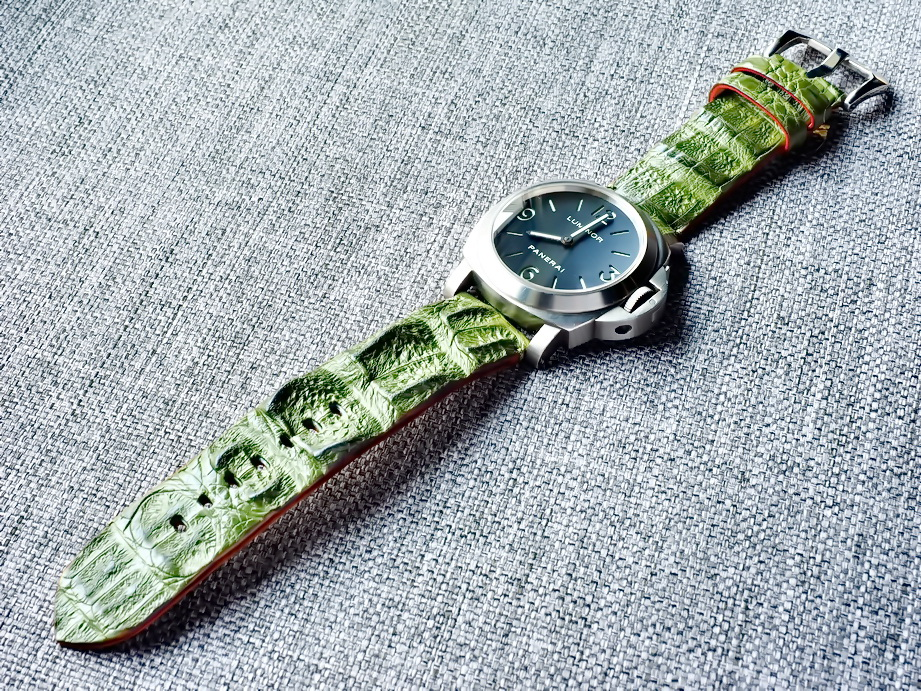 Ted Su Forest Green Big Horn Back Strap on Panerai