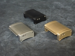 Dive Buckles in stainless steel, bronze and black DLC