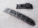 OL-73 22mm Black croc baby horn back strap 22/22 75/125