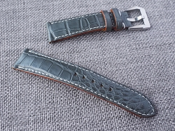 Dark Gray Alligator Strap  21/18 75/115 Ready to ship