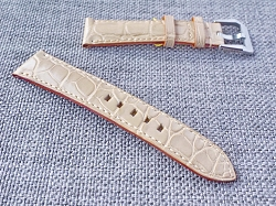 Beige Alligator Strap  21/18 75/115 Ready to ship
