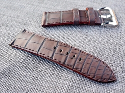 Matte Brown Alligator Strap  26/24 75/115