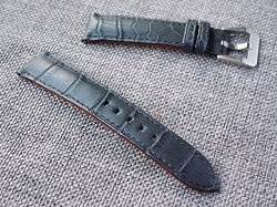 20mm Matte Black Alligator Strap  20/18 75/115 Ready to ship