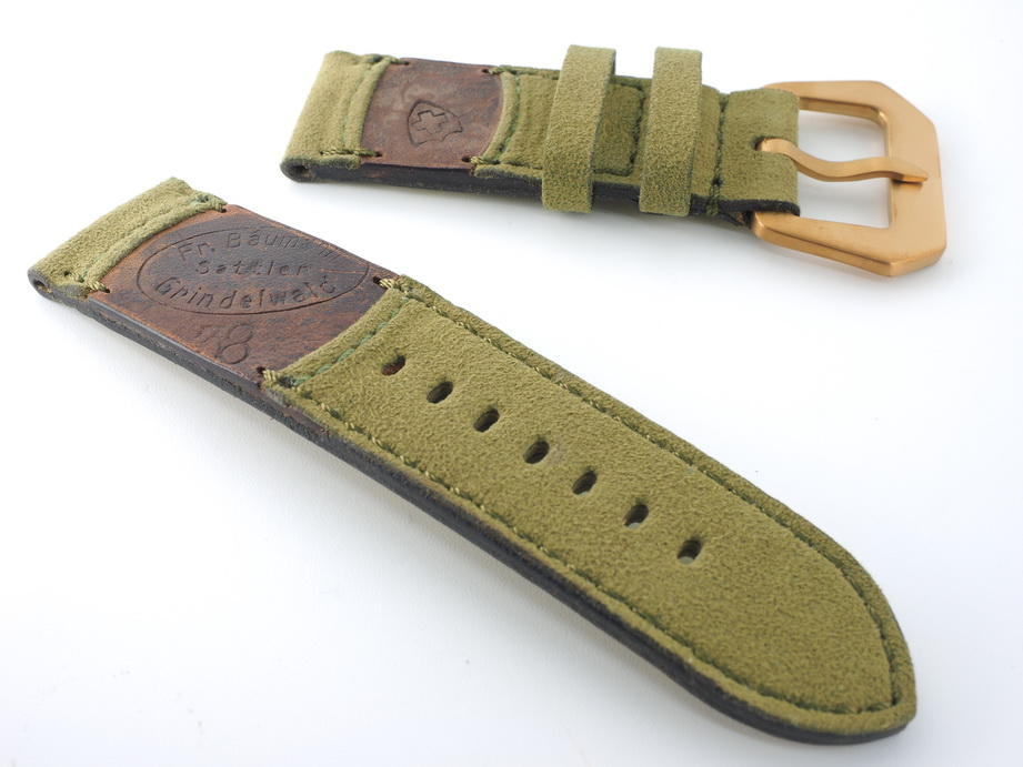 Ted Su Swiss ammo Alcantara Hybrid Strap 26mm Dated 1938