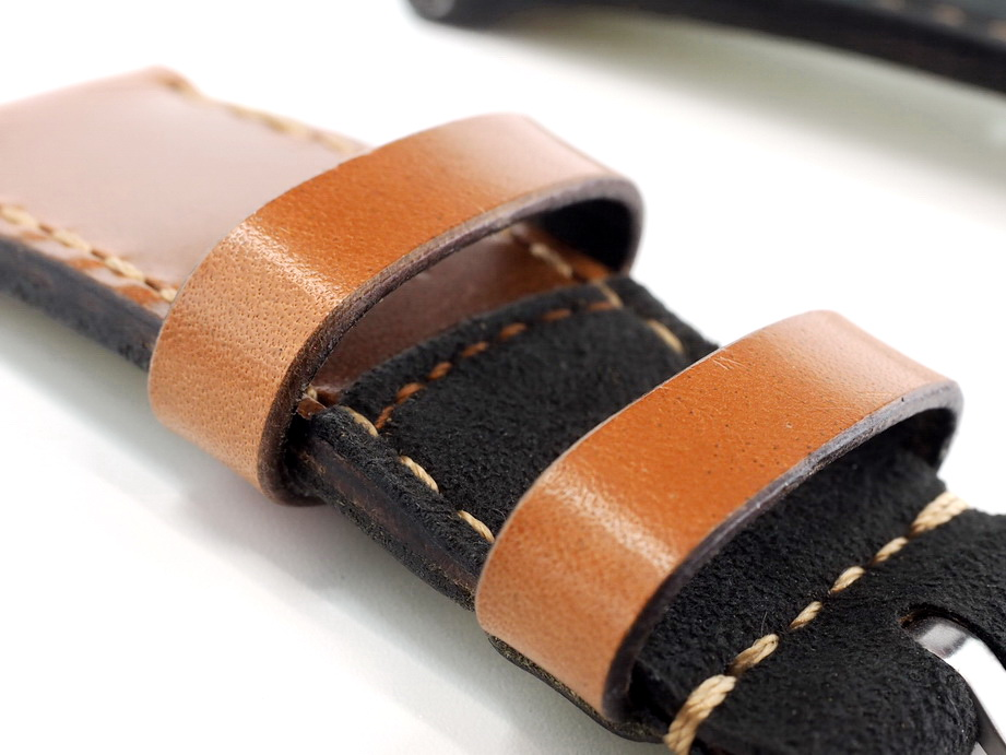 Ted Su Swiss ammo black Alcantara Hybrid Strap 26mm Dated 1985