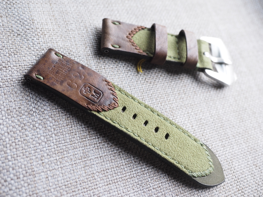 Ted Su Swiss Ammotara strap for 44mm Panerai Dated 1962