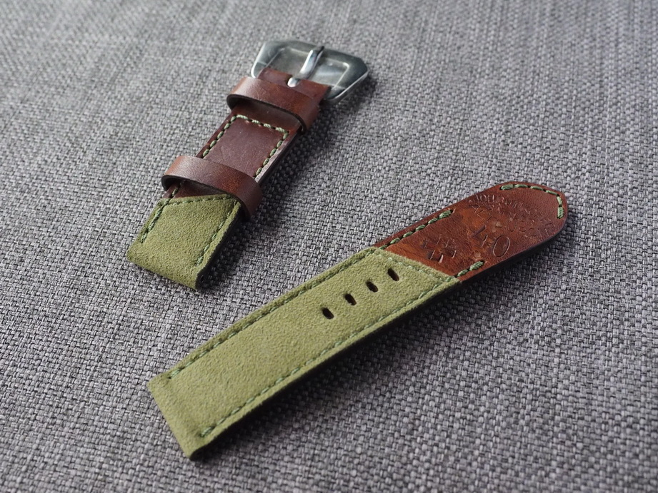 Ted Su Swiss ammo Alcantara Hybrid Strap for 44mm Panerai  24mm Dated 1940