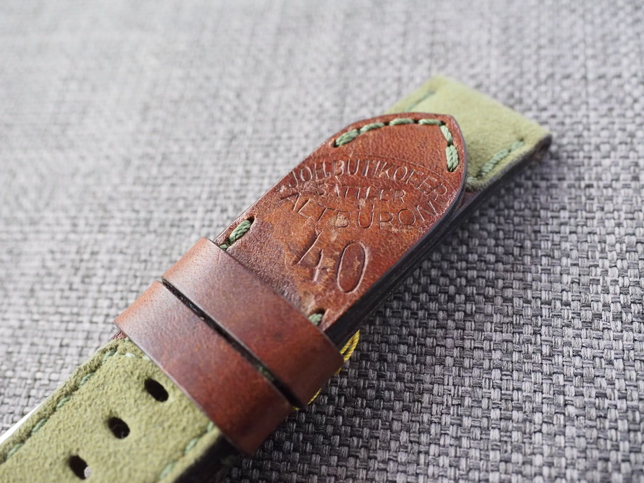 Ted Su Swiss ammo Alcantara Amotara Hybrid Strap for 44mm Panerai  24mm Dated 1940