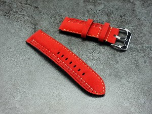 Racing theme Alcantara strap
