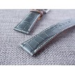 Ted Su Dark Gray Alligator Strap 21/18 75/115. Fits Rolex Omega IWC