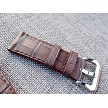 26mm Ready to ship Matte Brown Alligator strap 26/24 75/115