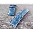 26mm Ready to ship Prussian Blue Croc Belly strap 26/24 75/115
